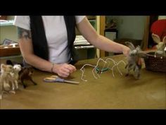 How to make an armature for Needle Felting - First Instructional Video!  Sarafina Fiber Art - Episode 1: Armature