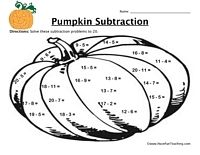 Halloween Addition and Subtraction Worksheets Free | Halloween ...