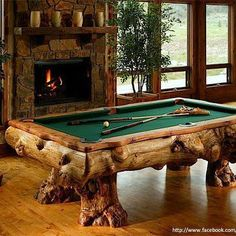 Awesome pool table for the man cave.