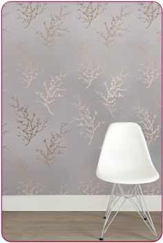 In love with this temporary wallpaper -- I'd like to use it on one wall of our living room. So much easier than painting!