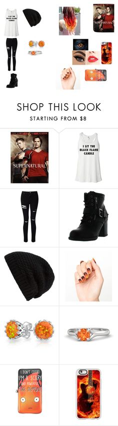 """SPN Outfit #15"" by giacozz ❤ liked on Polyvore featuring Miss Selfridge, Betani, Rick Owens, Tattify, Bling Jewelry, Studio Ghibli and Casetify"