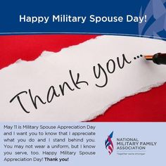 Military Spouse Appreciation Day! Hmm should make this out from the frg to the wives.