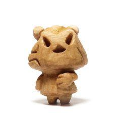 木彫り土偶15号
