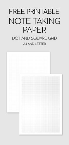 Free Printable Note Taking Paper - Dot And Square Grid paper Grid Paper Printable, Templates Printable Free, Graph Paper Notebook, Dot Grid Notebook, Graph Paper Art, Graph Paper Drawings, Study Planner, Notes Template, Freebies