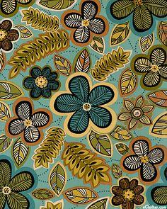 Casablanca - Jungle Flowers by Jennifer Young for Benartex
