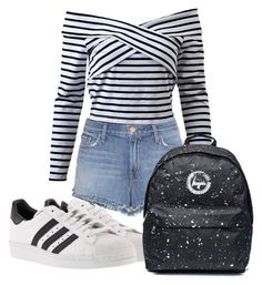 """Untitled #9"" by mv2722 on Polyvore featuring J Brand and adidas"