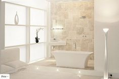 Tranquil Beige Bathrooms