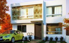 Fachadas de Casas Modernas: Fachada contemporánea y moderna de San Isidro…