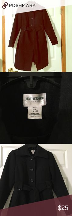 Motherhood maternity belted jacket Motherhood maternity belted jacket. Very flattering for the fall and winter months and offers plenty of room for your growing belly! Thanks for looking! Offers and trades considered! Motherhood Maternity Jackets & Coats Pea Coats