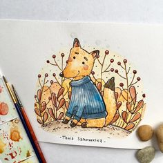 2,826 отметок «Нравится», 13 комментариев — Tania Samoshkina (@tania_samoshkina_art) в Instagram: «warmer #tania_autumndraw #illustration #watercolor #painting #picame #art #artistoninstagram…»