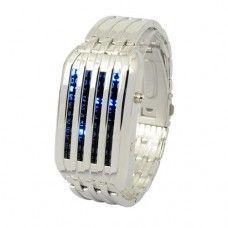 Cool binary watch. Looks like something from star trek.