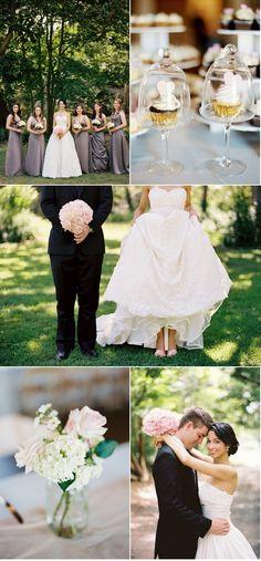 Blush pink and grey wedding