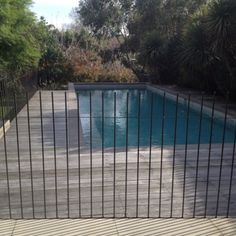 Neal Paving and Pool Fence Design Fence Around Pool, Pool Fence, Backyard Pool Designs, Swimming Pools Backyard, Outdoor Spa, Outdoor Life, Country Pool, Metal Pool, Mini Pool