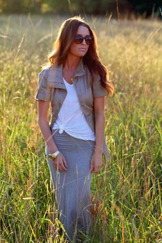 Love jacket & knotted t