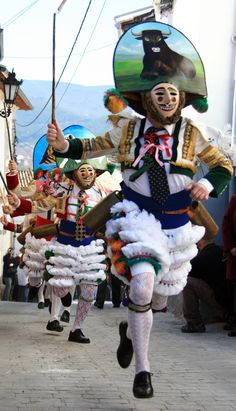 """Peliqueiros"" .antique carnival tradition of Laza,a city in Galicia."