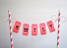 Personalized carnival cake bunting banner on Etsy