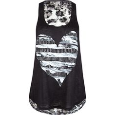 Leapord print back, heart front tank. tilly's