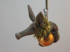 Aardvark Ornament Earth Pig Gift Idea Him Her Birthday Anniversary Holiday Love by WhimzyGrimzy on Etsy