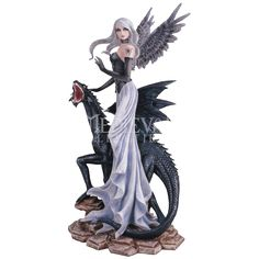 Black Dragon Fairy Statue - 05-91355 by Medieval Collectibles