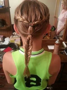 Softball hair