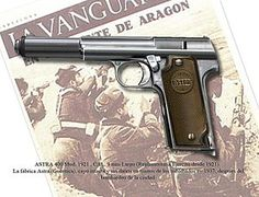 The Astra modelo 400 was a Spanish service pistol produced by weapons manufacturer Astra-Unceta y Cia SA. as a replacement for the Campo-Giro 1913/1916, which had also been chambered in 9mm Largo. It was the standard issue sidearm in the Spanish Army during the Spanish Civil War and also saw service in Germany during World War II.