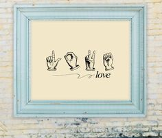 Sign language Love Digital Image Transfer To Aprons by eloyce929, $3.00