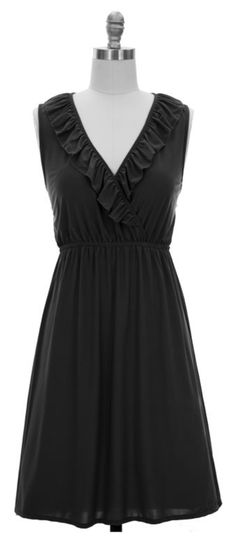 Classic Black Dress for Day or Night $19.99 #pinkepromise