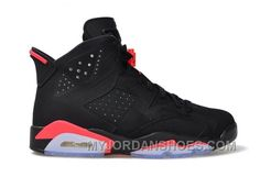 a2742c5de59235 Authentic 384664-023 Air Jordan 6 Retro Black Infrared 23-Black Grade  School s Shoe