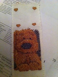 Fluffy doggy, my second counted cross stitch ever.