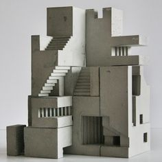 This series of concrete sculptures by Canadian architect and sculptor, David Umemoto, draws parallels with the fundamental attributes associated with Brutalist architecture. His work has been described. Architecture Antique, Plans Architecture, Architecture Design, Architecture Diagrams, Architecture Portfolio, Module Design, Installation Architecture, Beton Design, Concrete Sculpture