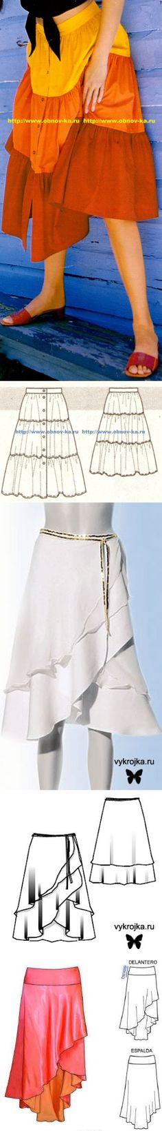 Шьем сами. Красивые летние и пляжные юбки — Рукоделие