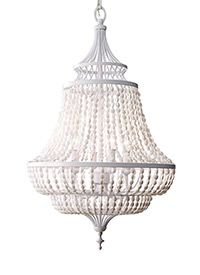F2807/4WSG,4 - Light Single Tier Chandelier ,White Semi Gloss