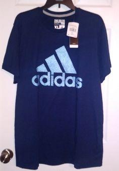 Adidas Men's Graphic Tee Blue Size X-Large #Adidas #ShirtsTops