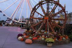 Fall decorations at The Island in Pigeon Forge, located at the foot of The Great Smoky Mountains in Pigeon Forge, Tennessee. TN