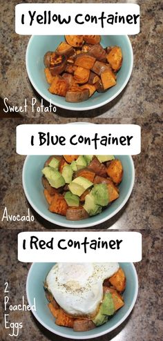Quick & Easy 21 Day Fix Meal/Snack - add a dash of hot sauce or salsa.