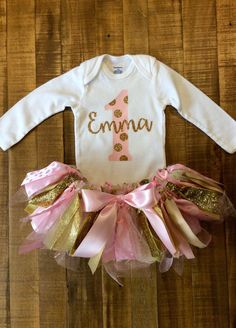 Baby Girl's First Birthday Outfit by SweetClairs on Etsy