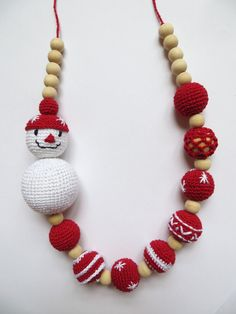 Inverno all'uncinetto Natale eco Collana Crochet di Meiroadas