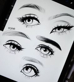 Paper Drawing, Drawing Tips, Drawing Stuff, Art Drawings Sketches, Cute Drawings, How To Draw Eyeliner, Eyelashes Drawing, Beautiful Fantasy Art, Digital Art Tutorial