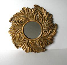 SALE Vintage Kirch Gold Sunburst Mirror by jewelryandthings2