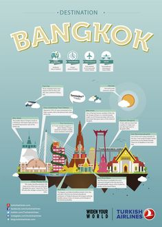 Bangkok, City illustration, THY, Turkish Airlines, City guide http://blog.turkishairlines.com/en