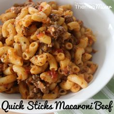 Quick Sticks Macaroni Beef – The Road to Loving My Thermo Mixer