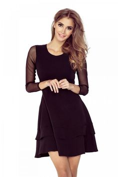 Be Casually Regal in Black Dress Fashion News, Fashion Outfits, Womens Fashion, Short Dresses, Dresses For Work, Mini Dresses, Mini Dress With Sleeves, Fashion Company, Fashion Addict