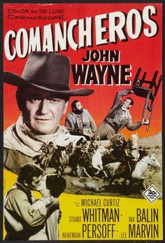 "20Th Century Fox Movie Posters   The Comancheros (20th Century Fox, 1961). Swedish Poster (15.75"" X23.5 ..."