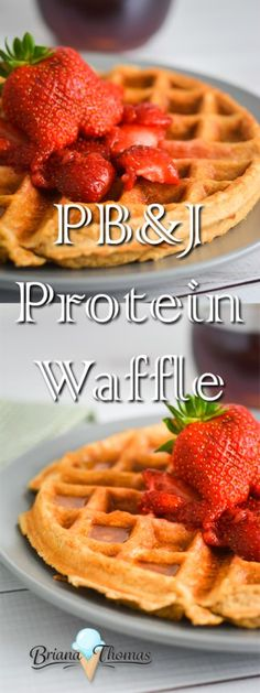 PB&J Protein Waffle - over 20 grams of protein! - classic peanut butter and jelly flavors in a crispy waffle - single-serve - THM: Fuel Pull - no significant sources of carbs or fats - sugar free - gluten free - low-glycemic - quick and easy
