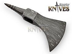 KNIVES EXPORTER Forest Hunter Bearded Damascus Steel Blank Axe Head (10) #KNIVESEXPORTER