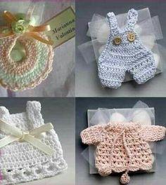 Recuerdos en crochet para bautizo, presentación o baby sower varios colores. Precio por paquete $40 o individual contacto 2225271141