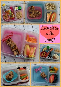 School Lunches {Packed} With Love! | packed in @EasyLunchboxes containers