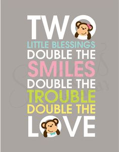 TWIN Baby Shower Table Sign/ Wall Art- Custom Sweets Bar Printable PDF on Etsy, $8.00