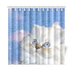 "Cat and Water Shower Curtain 72""x72"". FREE Shipping. FREE Returns."