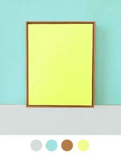 Color Collective | yellow, light teal, brown, gray